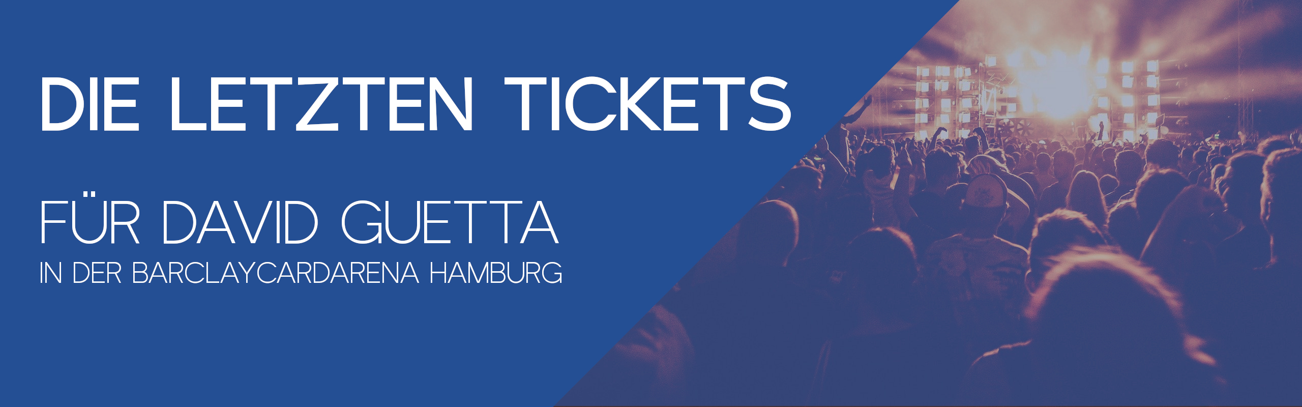 Gewinnt die letzten Tickets für das David Guetta Konzert in Hamburg